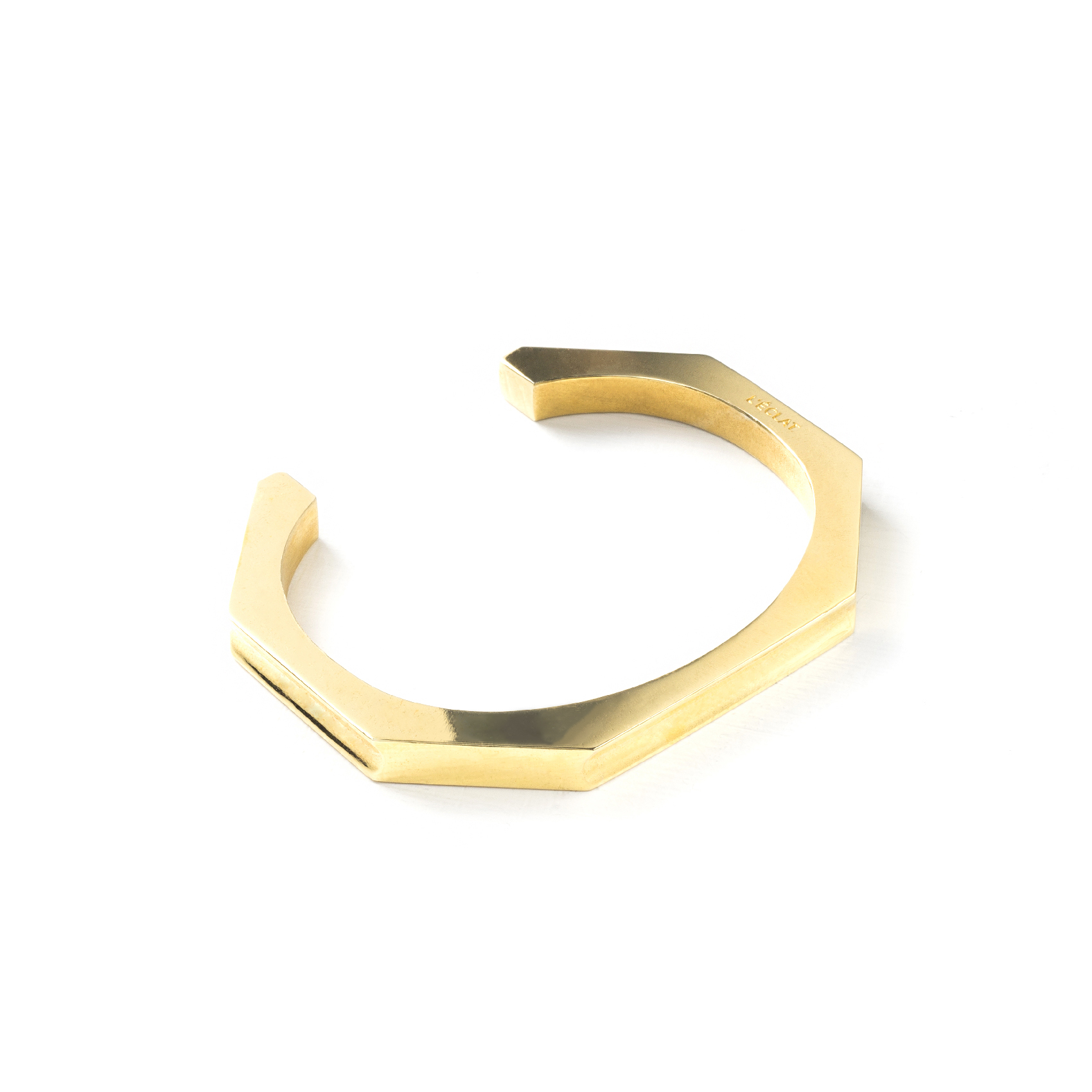 OCTA CURVED CUFF GOLD