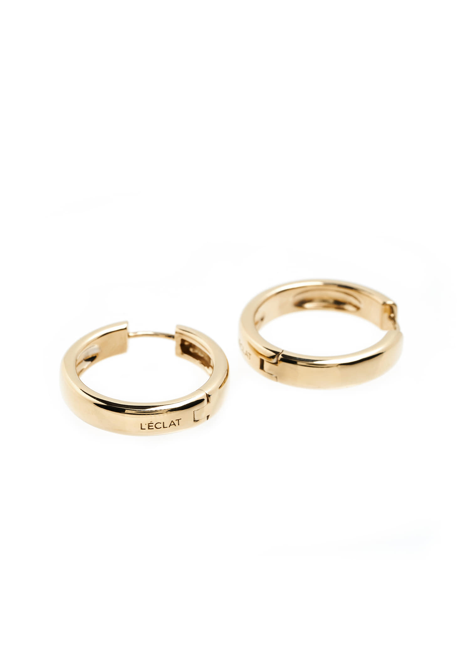 ONE-TOUCH HOOP EARRINGS GOLD
