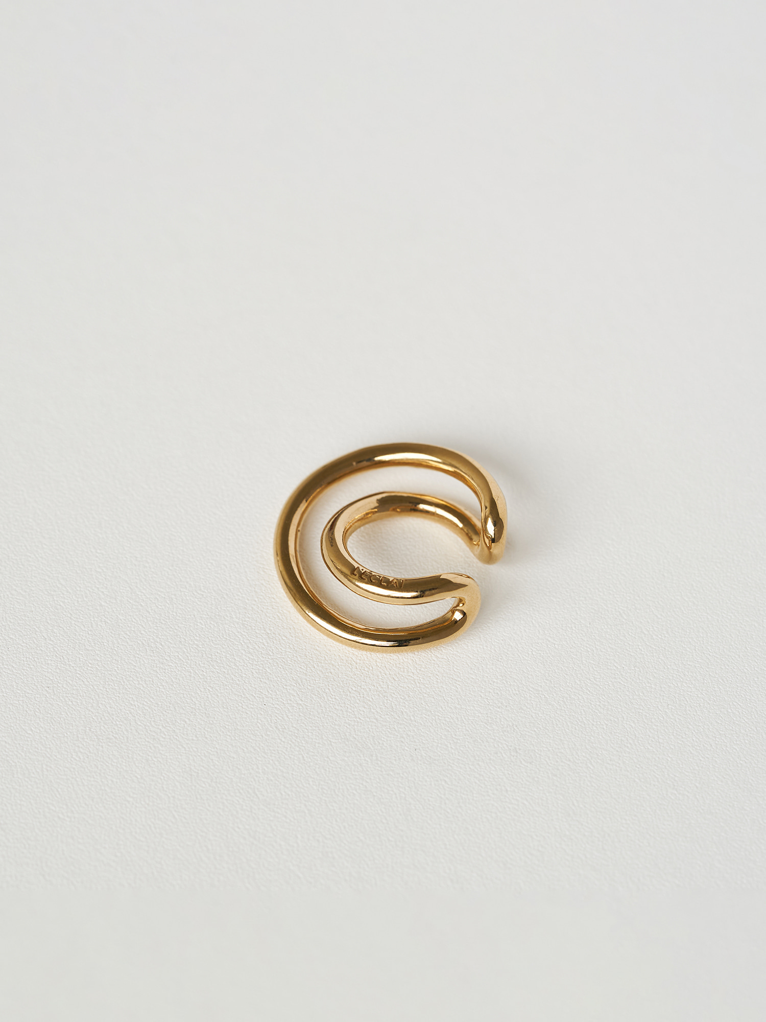 DOUBLE TWIST EARCUFF GOLD