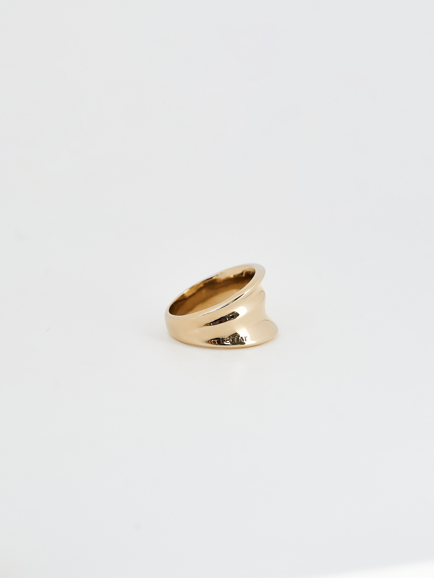 MOIRE 1 RING GOLD
